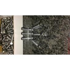 Chrome Plated M10x1.25x25mm, grade 12.9, Socket Head Cap Screws