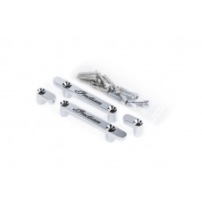 """18 to 21"""" Wheel Indian Fender Spacers - Chrome - Indian Script"""